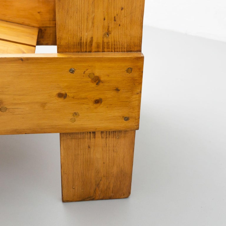Gerrit Rietveld Mid-Century Modern Wood Crate Chair, circa 1950 For Sale 13