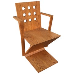 Gerrit Rietveld Oak Chair