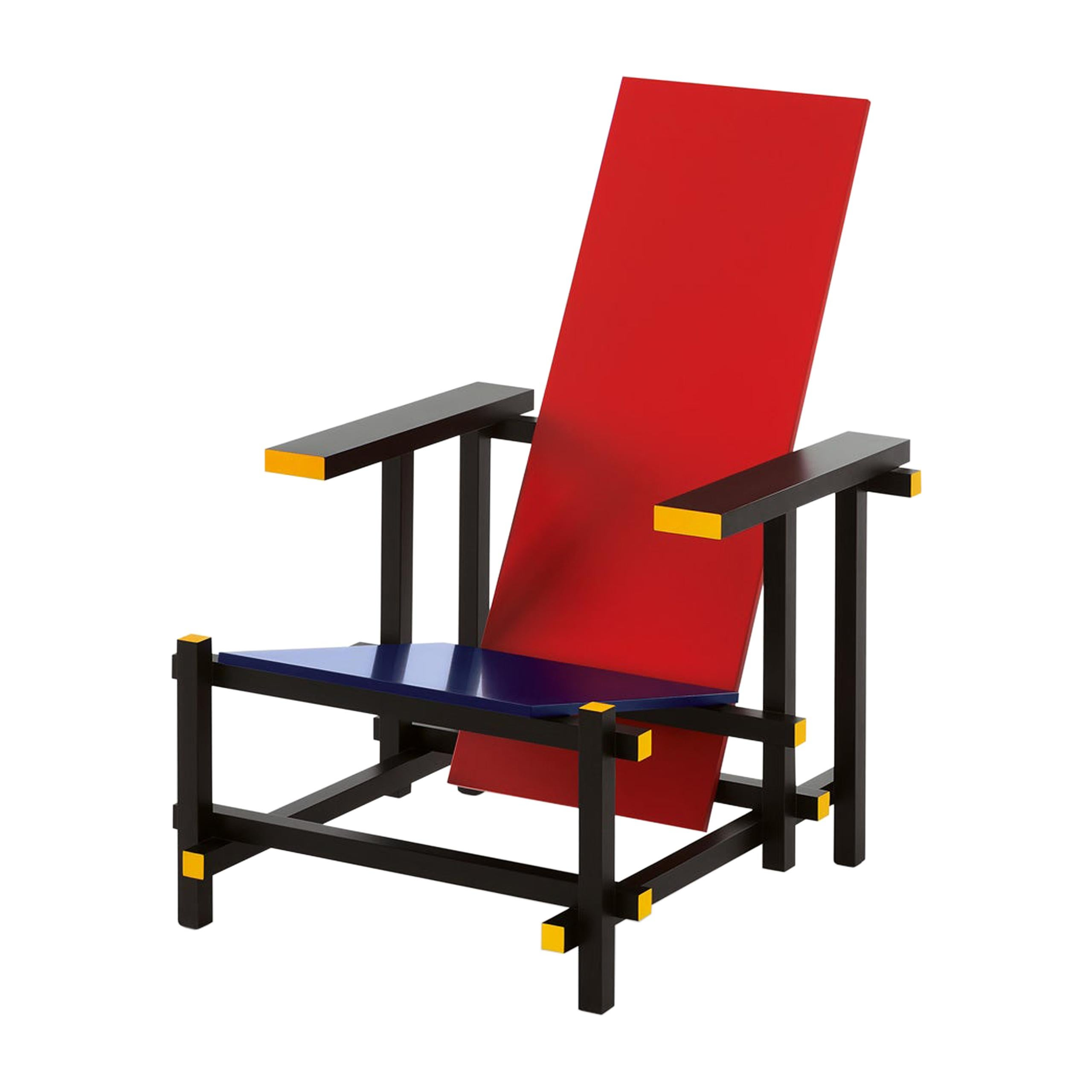 Gerrit Rietveld Red and Blue Chair by Cassina