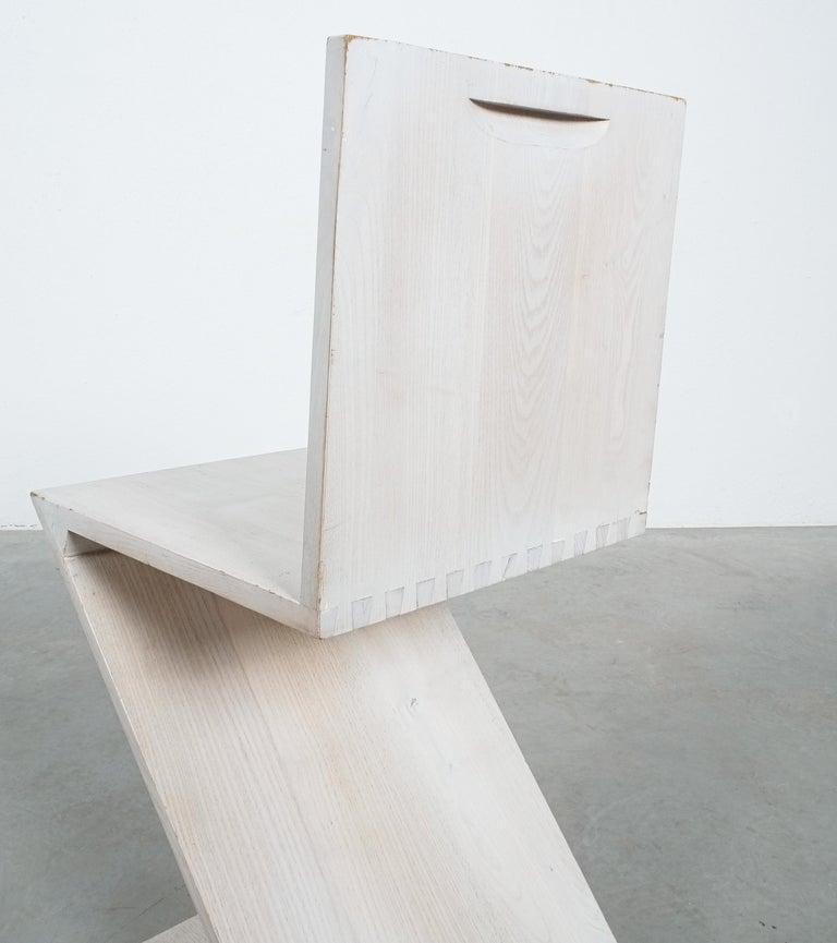 Italian Gerrit Rietveld Zig Zag Chair Cassina, Circa 1970