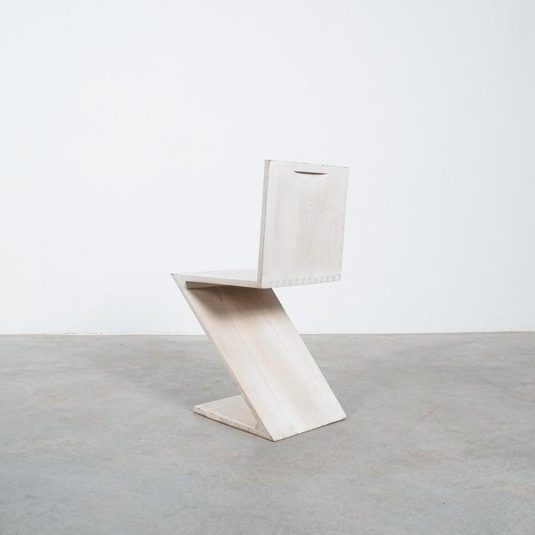 Early 20th Century Gerrit Rietveld Zig Zag Chair Cassina, Circa 1970