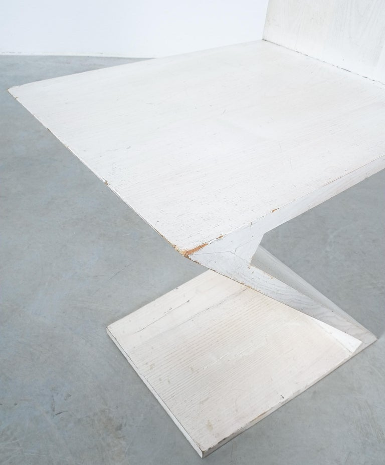 Gerrit Rietveld Zig Zag Chair Cassina, Circa 1970 2