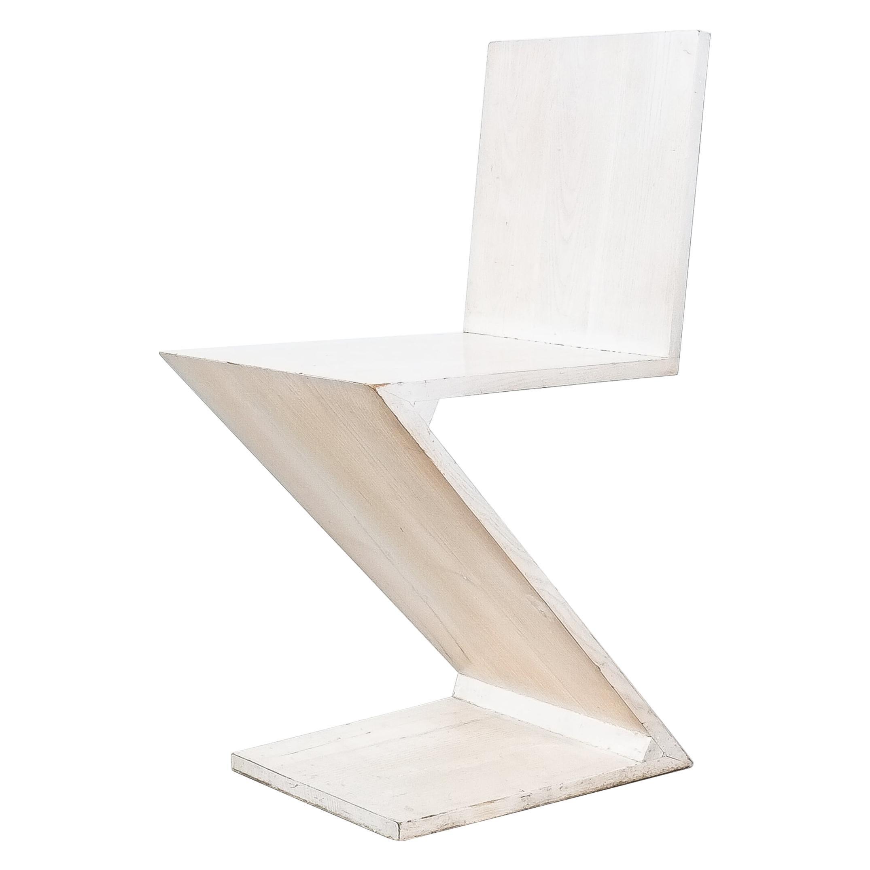 Gerrit Rietveld Zig Zag Chair Cassina, Circa 1970