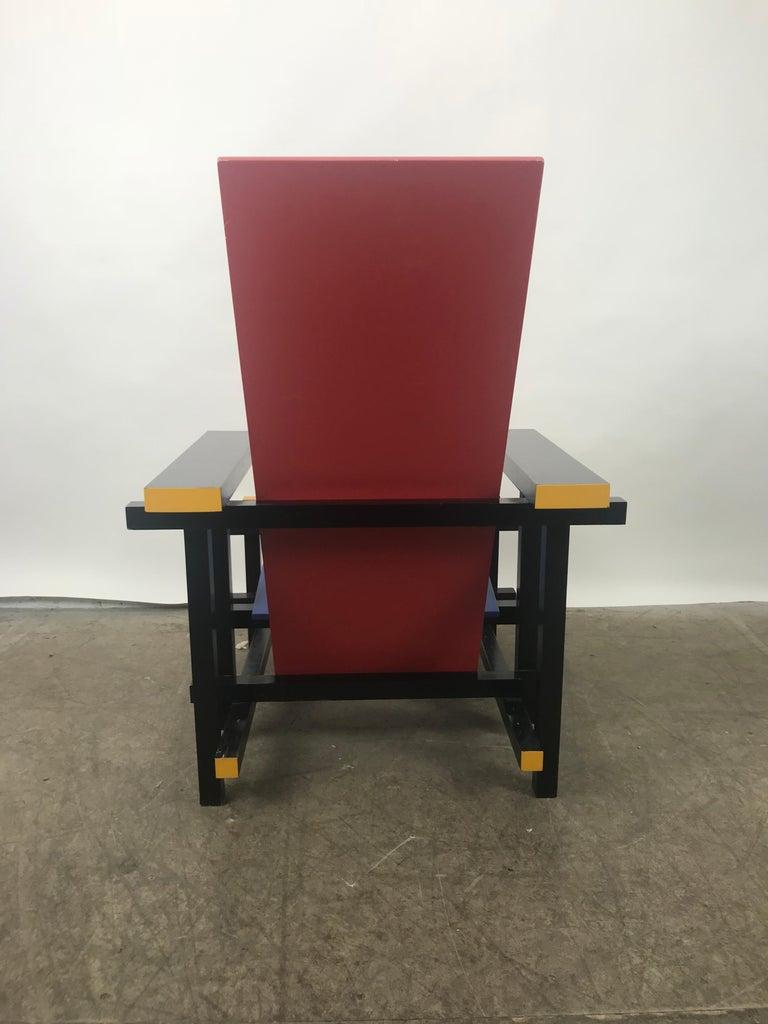 De Stijl Gerrit Thomas Rietveld Red Blue Chair Gerard van de Groenekan For Sale