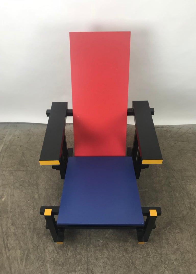Dutch Gerrit Thomas Rietveld Red Blue Chair Gerard van de Groenekan For Sale