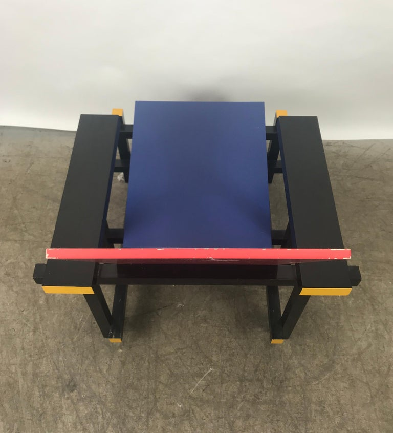 Gerrit Thomas Rietveld Red Blue Chair Gerard van de Groenekan In Good Condition For Sale In Buffalo, NY
