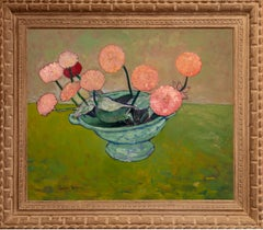 """Pink Zinnias in a Bowl"""