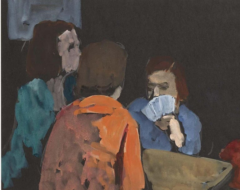 The Card Players - Painting by Gershon Benjamin