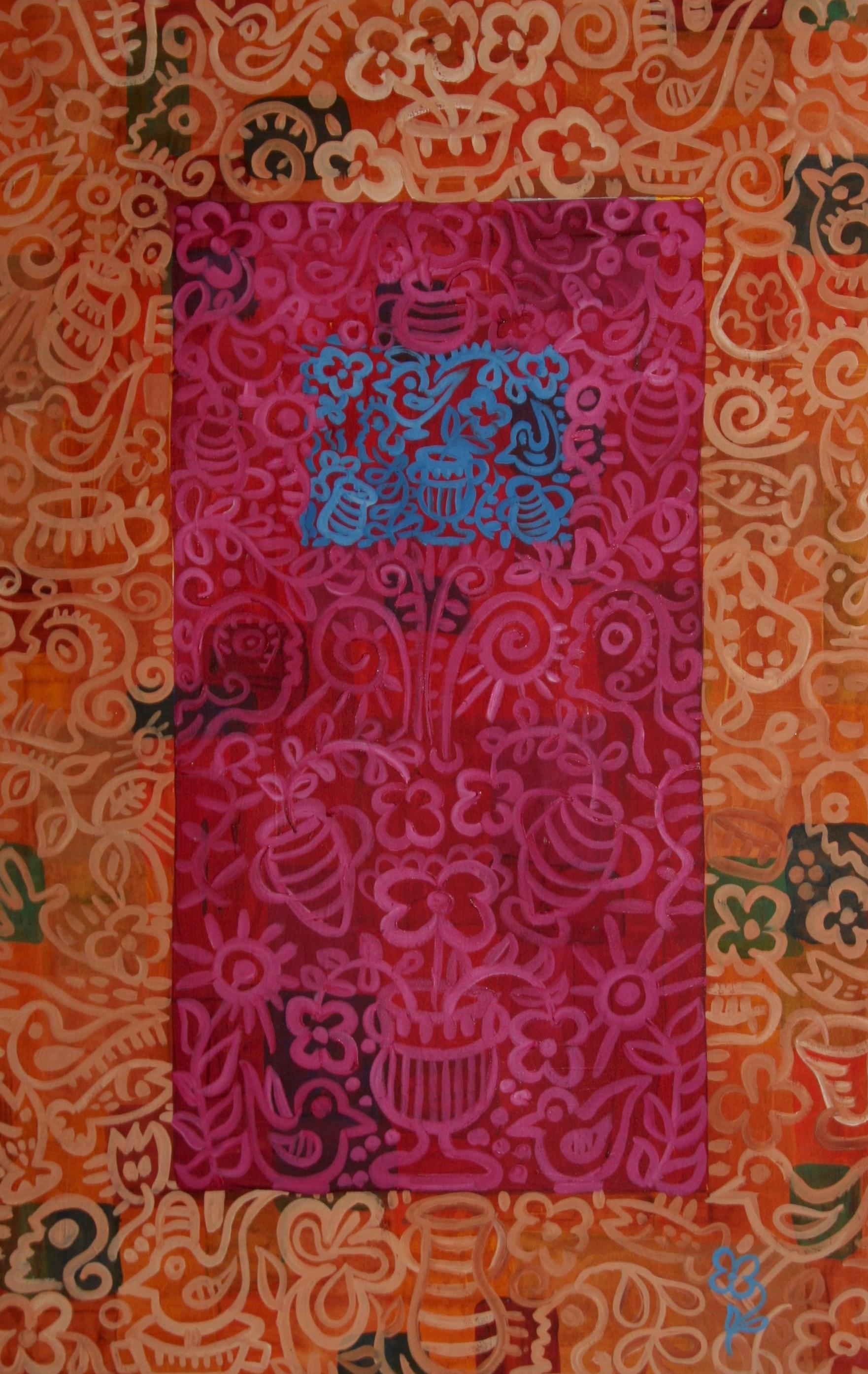 Egyptian Series: Orange and Pink Giclée Print on Paper or Canvas