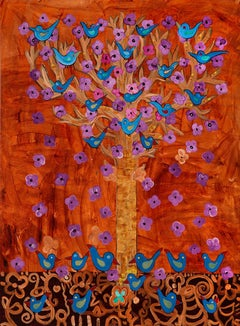 Rust Tree of Life Giclée Print on Canvas or Paper