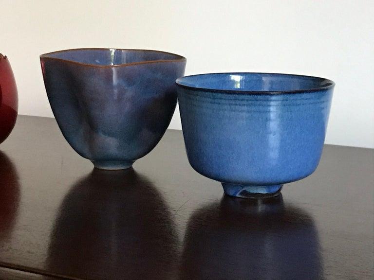 Mid-Century Modern Gertrud and Otto Natzler Studio Pottery Pinch Pot For Sale