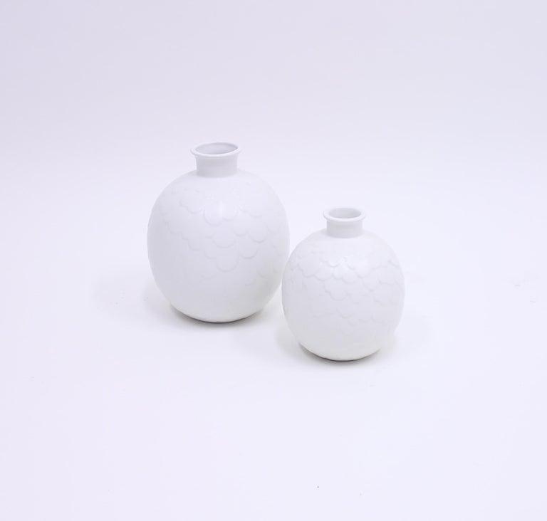 Scandinavian Modern Gertrud Lönegren, Rare Set of 2 Capri Vases for Rörstrand, 1950s