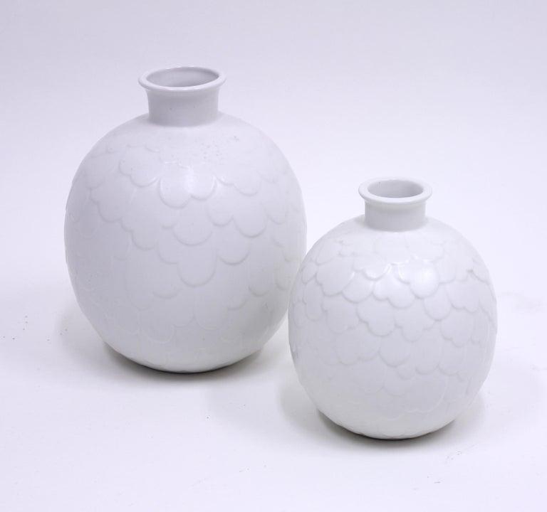 Swedish Gertrud Lönegren, Rare Set of 2 Capri Vases for Rörstrand, 1950s