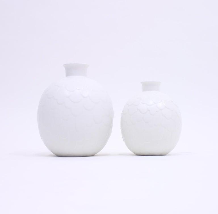 Gertrud Lönegren, Rare Set of 2 Capri Vases for Rörstrand, 1950s In Good Condition In Uppsala, SE