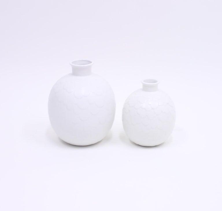 Mid-20th Century Gertrud Lönegren, Rare Set of 2 Capri Vases for Rörstrand, 1950s