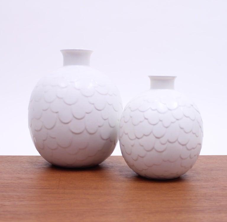 Ceramic Gertrud Lönegren, Rare Set of 2 Capri Vases for Rörstrand, 1950s