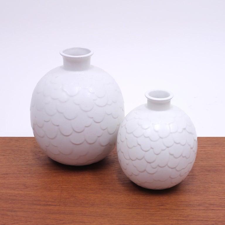Gertrud Lönegren, Rare Set of 2 Capri Vases for Rörstrand, 1950s 1