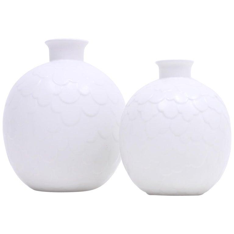 Gertrud Lönegren, Rare Set of 2 Capri Vases for Rörstrand, 1950s