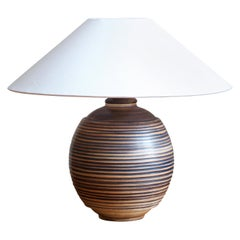 Gertrud Lönegren, Table Lamp, Glazed Stoneware, Rörstrand, 1950s