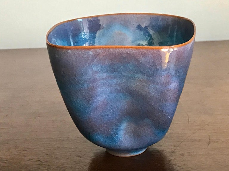 American Gertrud and Otto Natzler Studio Pottery Pinch Pot For Sale
