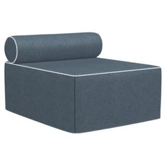 Gervasoni Kubo Ottoman /Bed in Munch Upholstery & Wood Base by Paola Navone