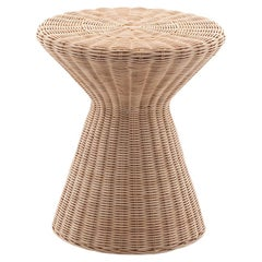 Gervasoni Small Bolla SideTable in Natural Melange Rattan Core by Michael Sodeau