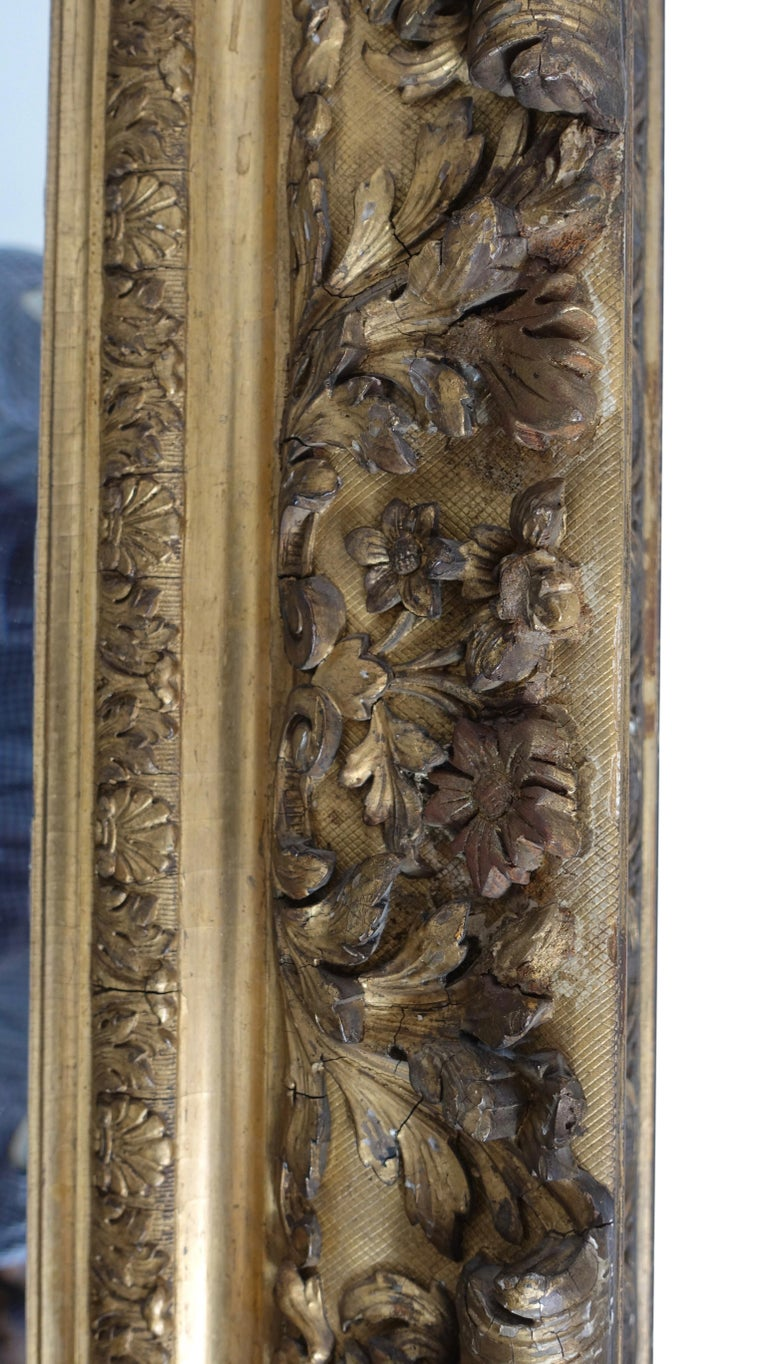 Gesso and Carved Gilt Framed Mirror, English, 19th Century For Sale 5