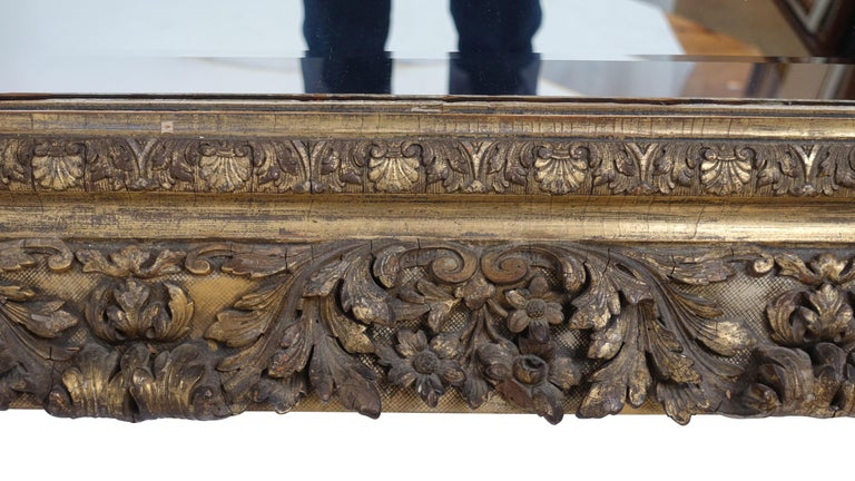 Gesso and Carved Gilt Framed Mirror, English, 19th Century For Sale 2