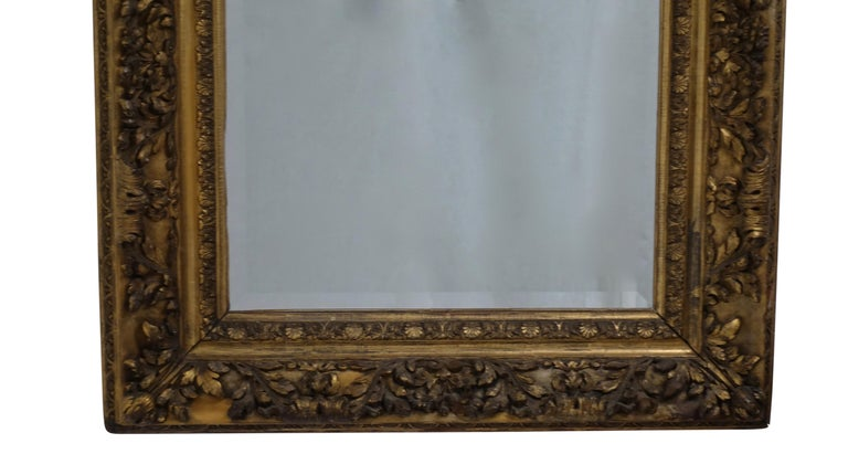 Gesso and Carved Gilt Framed Mirror, English, 19th Century For Sale 4