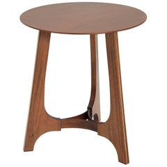 Gesto Brazilian Contemporary Wood Small Side Table by Lattoog