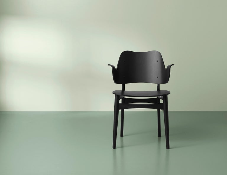 Danish Gesture Chair in Pure Wood, by Hans Olsen from Warm Nordic For Sale