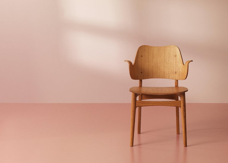 Gesture Chair in Pure Wood, by Hans Olsen from Warm Nordic In New Condition For Sale In Viby J, DK
