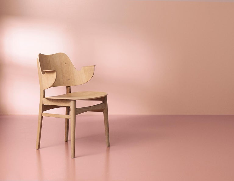 Contemporary Gesture Chair in Pure Wood, by Hans Olsen from Warm Nordic For Sale