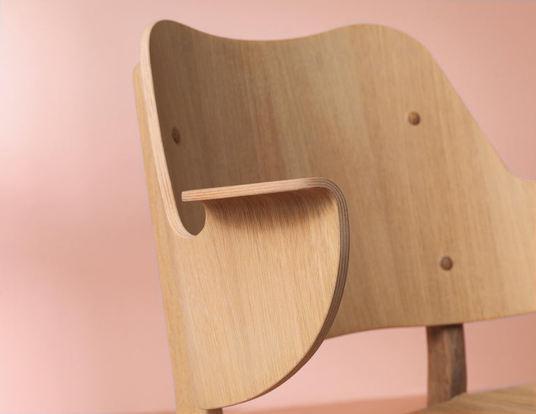 Gesture Chair in Pure Wood, by Hans Olsen from Warm Nordic For Sale 2