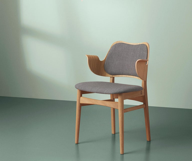 Gesture Monochrome Fully Upholstered Chair in Oak, by Hans Olsen for Warm Nordic In New Condition For Sale In Viby J, DK