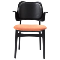 Gesture Two-Tone Fully Upholstered Chair in Black, by Hans Olsen for Warm Nordic