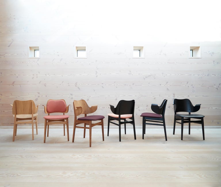 Danish Gesture Two-Tone Fully Upholstered Chair in Oak, by Hans Olsen from Warm Nordic For Sale