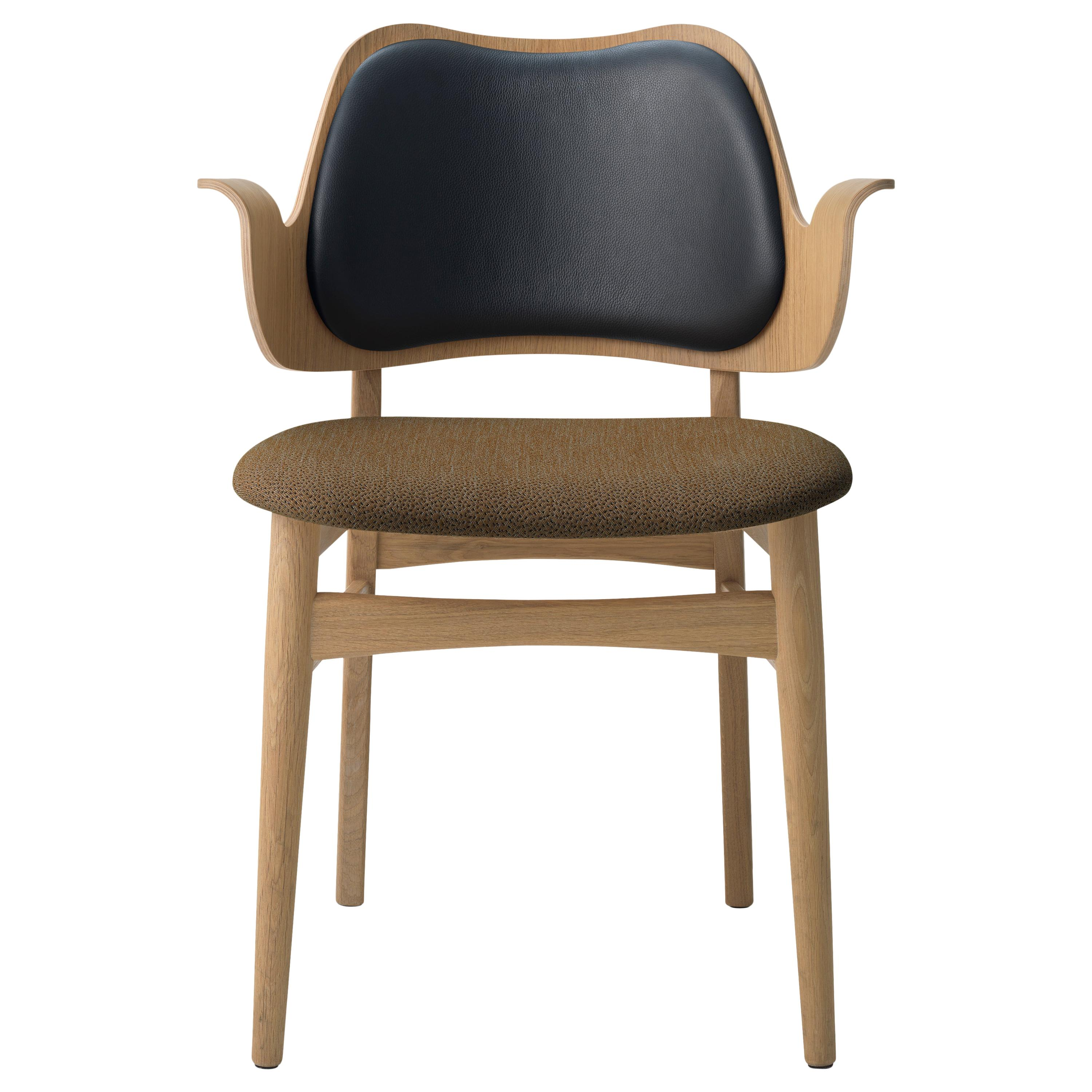 Gesture Two-Tone Fully Upholstered Chair in Oak, by Hans Olsen from Warm Nordic