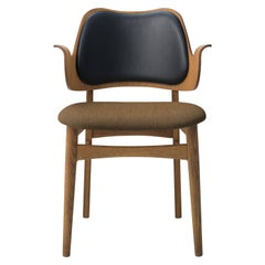 Gesture Two-Tone Fully Upholstered Chair in Teak, by Hans Olsen from Warm Nordic
