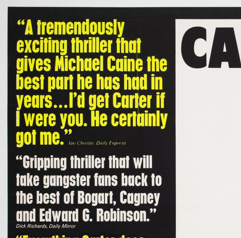 British Get Carter 1971 UK Quad Quotes Style Film Movie Poster For Sale