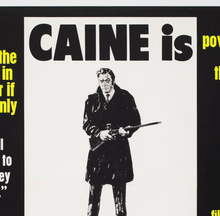 Get Carter 1971 UK Quad Quotes Style Film Movie Poster In Excellent Condition For Sale In Bath, Somerset