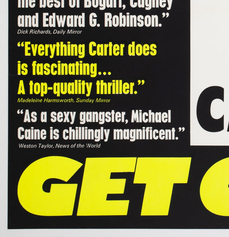 Paper Get Carter 1971 UK Quad Quotes Style Film Movie Poster For Sale