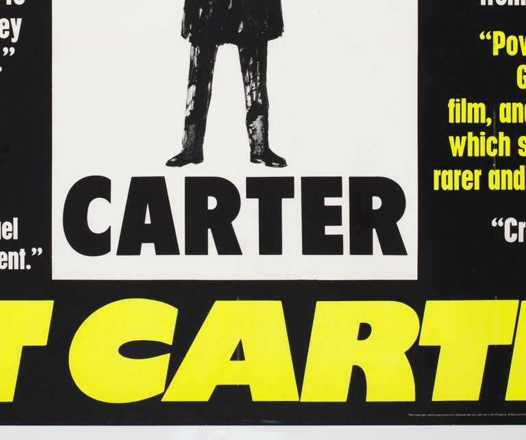 Get Carter 1971 UK Quad Quotes Style Film Movie Poster For Sale 1