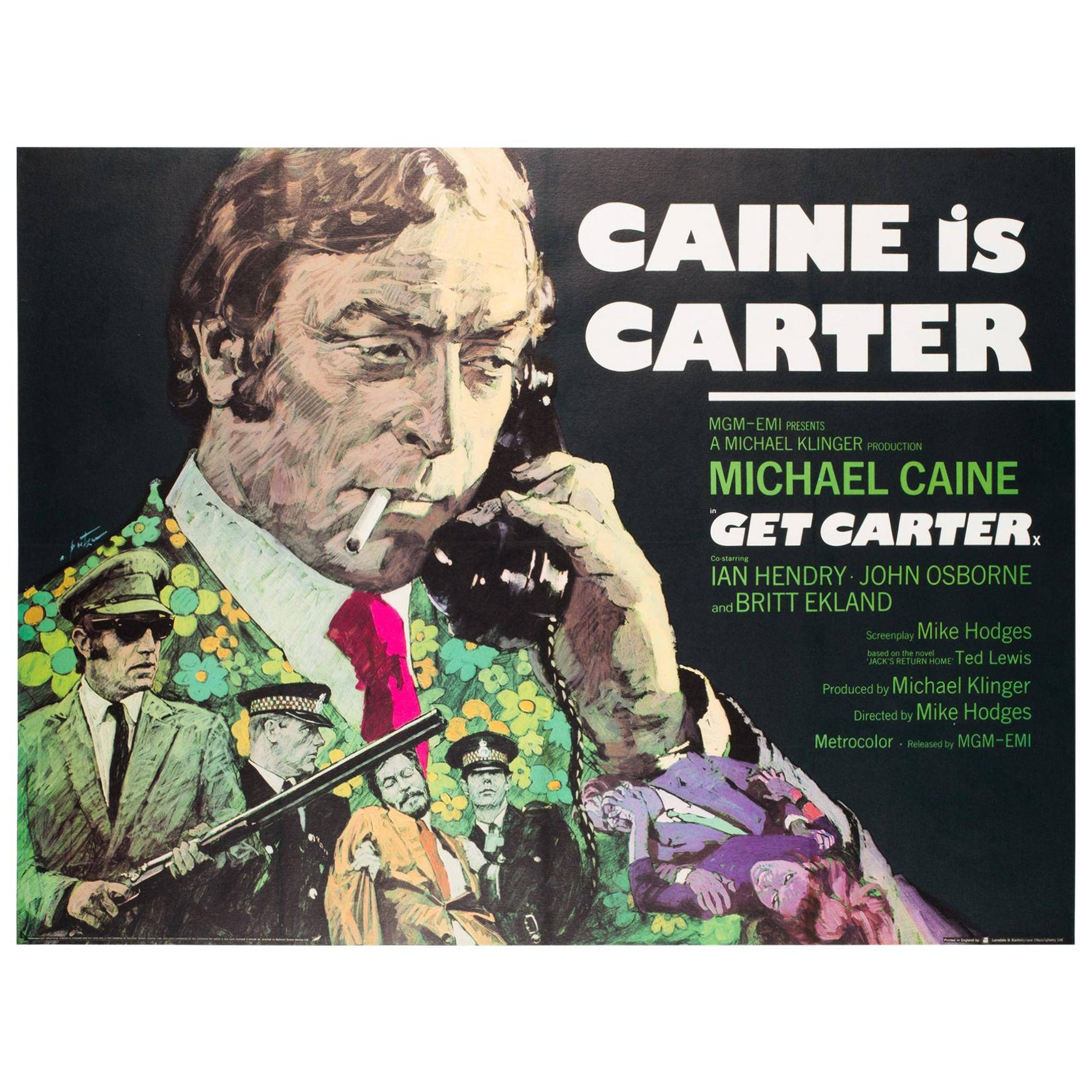 Get Carter Original UK Film Poster, 1971, Arnaldo Putzu