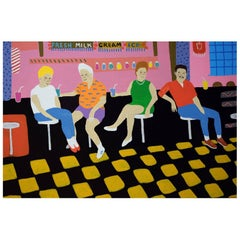 'Getting the Shakes' Portrait Painting by Alan Fears Pop Art