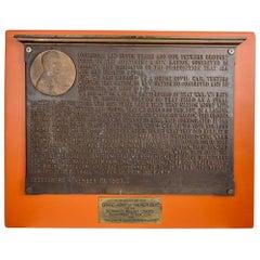 Gettysburg Address Bronze Plaque, Profile Bust of Abraham Lincoln / Gorham Co.