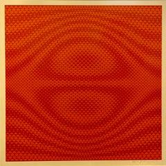 Vintage Italian OP Art Silkscreen Print Getulio Alviani Lithograph Kinetic Red