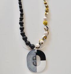 GG by Gordana Gasparovic Necklace With Vintage Hermes Scarves, & Hermes Pendant