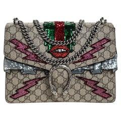 GG Supreme Canvas Medium Sequin/Crystal Embellished Dionysus Shoulder Bag