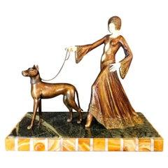 G. Gori Sculpture in Bronze Art Deco